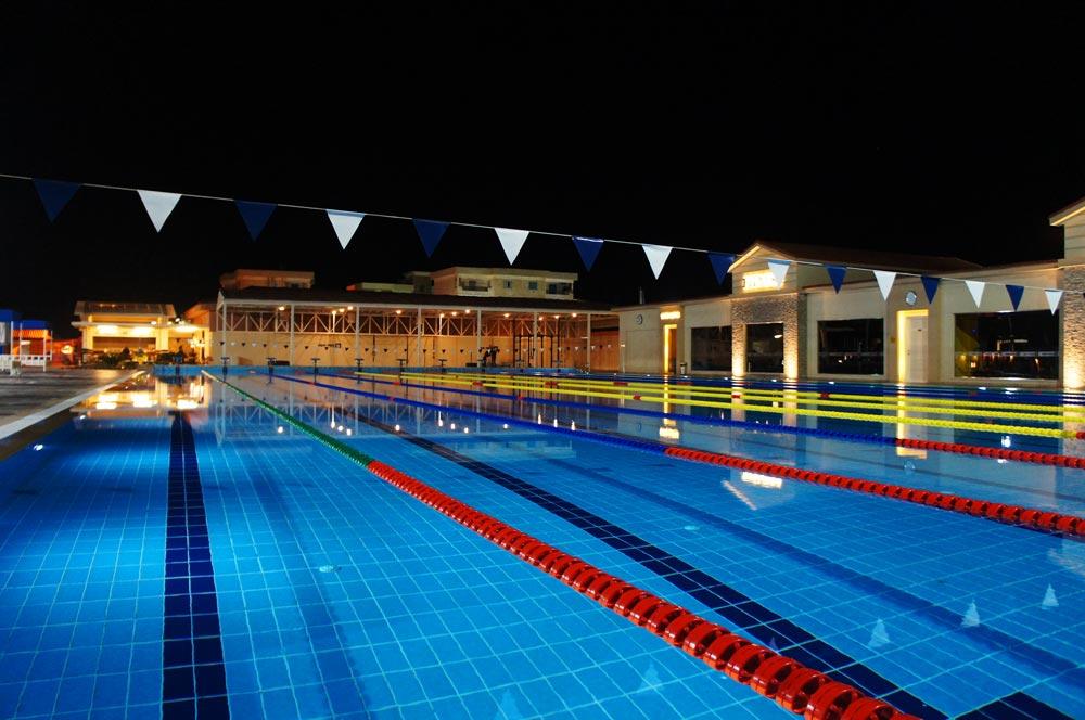 Schwimmerbecken des Albatros Aqua Park Resort.